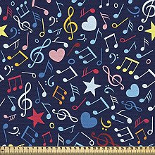 ABAKUHAUS Music Fabric by The Yard, Hearts Notes