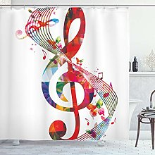ABAKUHAUS Music Shower Curtain, Artwork with