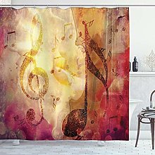 ABAKUHAUS Music Shower Curtain, Composition with
