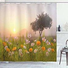 ABAKUHAUS Nature Shower Curtain, Daisy Flowers