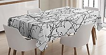 ABAKUHAUS Nature Tablecloth, Branches with Leaves