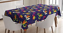 ABAKUHAUS New Orleans Tablecloth, Carnival Pattern