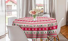 ABAKUHAUS Nordic Round Tablecloth, Classical