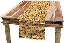 ABAKUHAUS Orange and Yellow Table Runner,