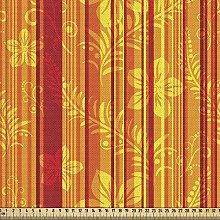 ABAKUHAUS Orange Fabric by The Yard, Vertically