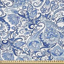 ABAKUHAUS Paisley Fabric by The Yard, Native