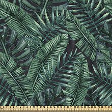 ABAKUHAUS Palm Leaf Fabric by The Yard, Watercolor
