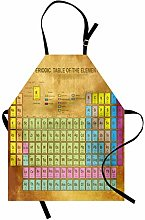 ABAKUHAUS Periodic Table Apron, Chemistry Elements