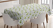 ABAKUHAUS Rabbit Tablecloth, Bunnies with Floral