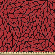 ABAKUHAUS Red and Black Fabric by The Yard,