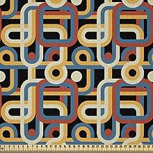 ABAKUHAUS Retro Fabric by The Yard, Geometric