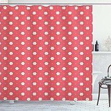 ABAKUHAUS Retro Shower Curtain, Exquisite Pattern