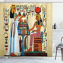 ABAKUHAUS Retro Shower Curtain, Papyrus Design