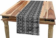 ABAKUHAUS Retro Table Runner, Boho Aztec Style,