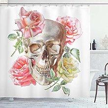 ABAKUHAUS Rose Shower Curtain, Tender Blossoms