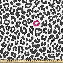 ABAKUHAUS Safari Fabric by The Yard, Leopard