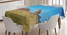 ABAKUHAUS Safari Tablecloth, African Savanna With