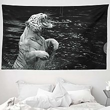 ABAKUHAUS Safari Tapestry, White Tiger Wintertime