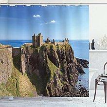ABAKUHAUS Scotland Shower Curtain, Dunnottar