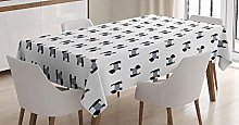 ABAKUHAUS Scottie Dog Tablecloth, Breed with