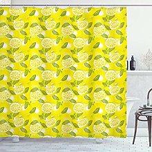 ABAKUHAUS Spring Shower Curtain, Fresh Lemon
