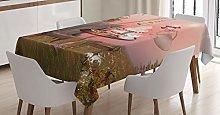 ABAKUHAUS Surrealistic Tablecloth, Birthday Alice