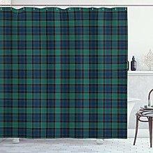 ABAKUHAUS Tartan Shower Curtain, Scottish Folklore