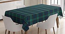 ABAKUHAUS Tartan Tablecloth, Scottish Folklore