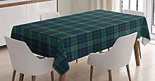 ABAKUHAUS Tartan Tablecloth, Scottish Folklore