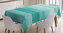 ABAKUHAUS Teal Tablecloth, Painted Wood Board with