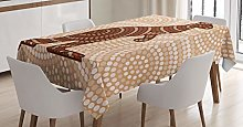 ABAKUHAUS Tropical Animals Tablecloth, Kangaroo