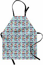ABAKUHAUS Turtle Apron, Baby Animals in with