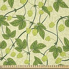 ABAKUHAUS Vine Fabric by The Yard, Health Hop