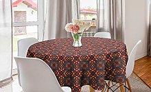 ABAKUHAUS Vintage Round Tablecloth, Design