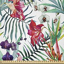 ABAKUHAUS Watercolor Flower Fabric by The Yard,
