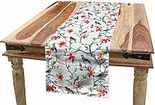 ABAKUHAUS Watercolor Table Runner, Birds on