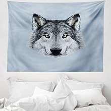 ABAKUHAUS Wolf Tapestry, Wolf Portrait with