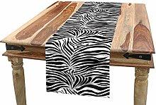 ABAKUHAUS Zebra Print Table Runner, Wild Zebra
