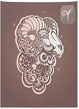 ABAKUHAUS Zodiac Aries Tapestry, Stylized Ram