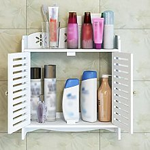 ABAOTA Bathroom White Wall Cabinets Wood Plastic