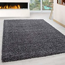 Abaseen Large Small Carpet Dark Grey Rug Floor