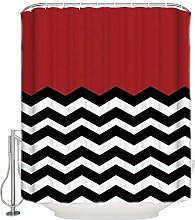 Abaysto Chevron Shower Curtain Set with 12 Hooks