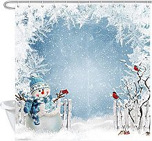 Abaysto Christmas Shower Curtain, Christmas