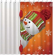 Abaysto Winter Snowman Shower Curtain Set with