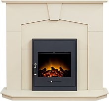 Abbey Fireplace in Stone Effect with Oslo Electric