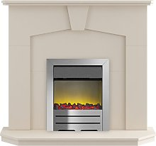 Abbey Fireplace Suite in Stone Effect with