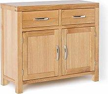 Abbey Light Oak Small Sideboard Cabinet for Living