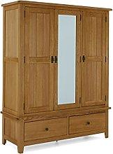 Abbey Oak Triple Wardrobe/Modern Rustic 3 Door 2