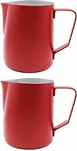 Abcsea 2 Pieces Stainless Steel Milk foaming jug,