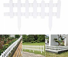 ABD 6pcs Wood Picket Garden Fence Rot Proof DIY